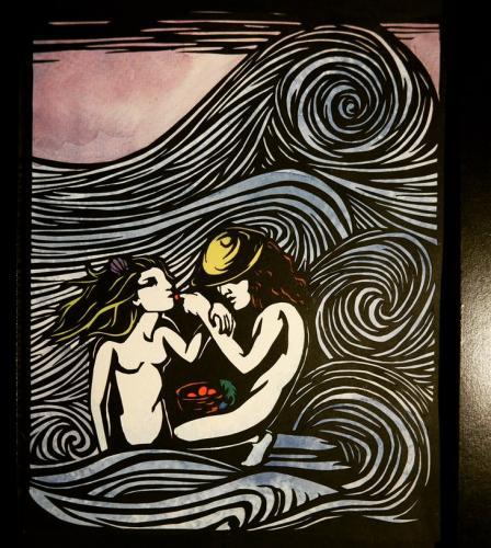 Fischer und Meerjungfrau