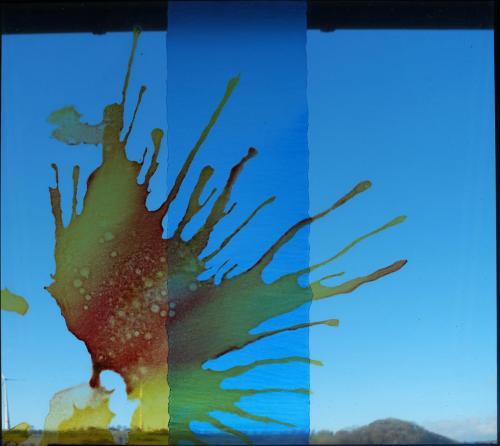 Aquarell auf Glas